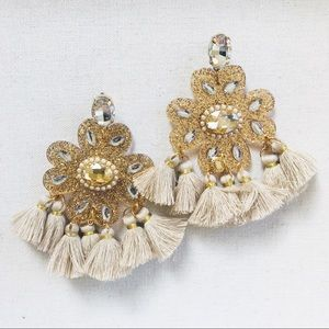 """""""Champagne Kisses"""" statement earrings"""